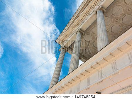 detail of casino nobile in villa torlonia to rome