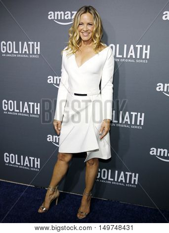 Maria Bello at the Los Angeles premiere of Amazon's 'Goliath' held at the London Hotel in West Hollywood, USA on September 29, 2016.