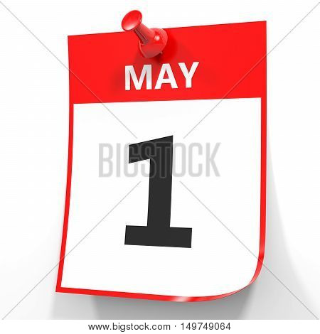 May 1. Calendar On White Background.