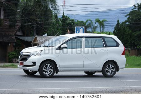 CHIANGMAI THAILAND -SEPTEMBER 1 2016: Private Toyota New Avanza car. Mini Suv Car for Urbun User. Photo at road no.121 about 8 km from downtown Chiangmai thailand.