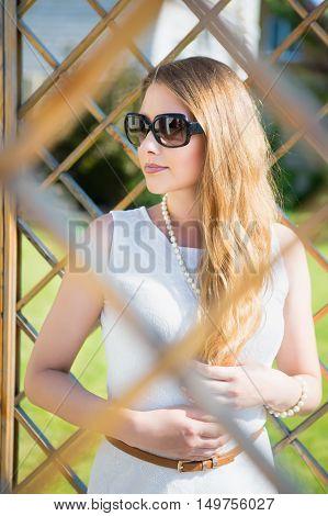 Portrait Of Beautiful Thoughtful Blond Woman