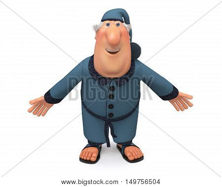 3D Illustration Of The Cheerful Businessman