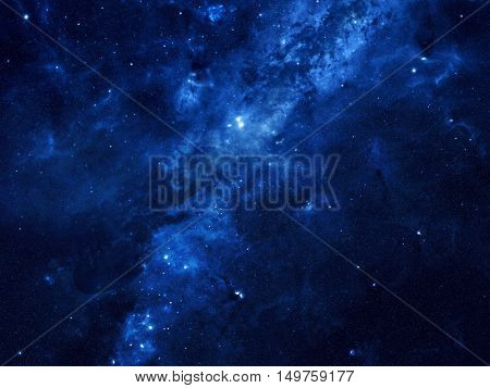 Space Background With Lots Of Stars And Nebulae