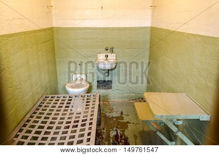 The Jail Cells Inside The Cellhouse On Alcatraz