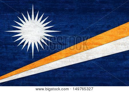 Illustration of the flag of The Marshall Islands witha grunge look
