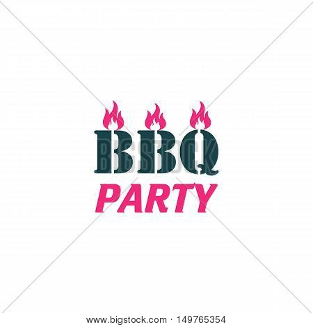 BBQ Icon Vector. Flat simple color pictogram