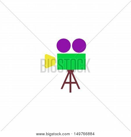 Movie Icon Vector. Flat simple color pictogram