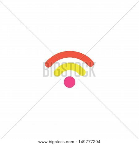 Podcast Icon Vector. Flat simple color pictogram