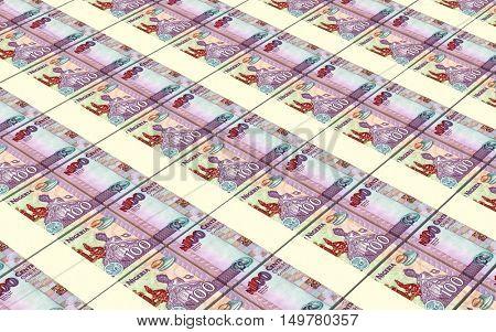 Nigerian nairas bills stacks background. 3D illustration.