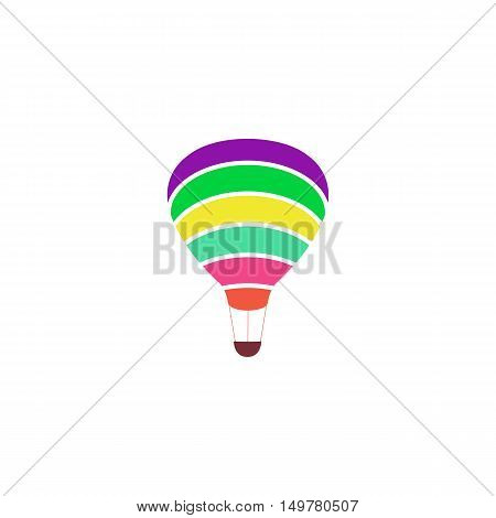 Air balloon Icon Vector. Flat simple color pictogram