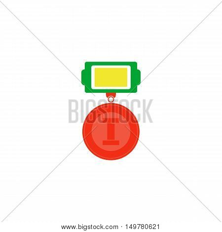 Medal Icon Vector. Flat simple color pictogram