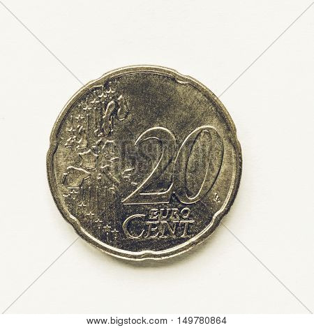 Vintage 20 Cent Coin