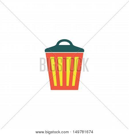Trash bin Icon Vector. Flat simple color pictogram