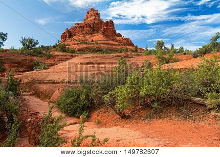 the path to Bell Rock next to Sedona Arizona