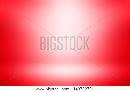 Abstract illustration background texture of beauty dark and light clear red, gradient flat wall and red backdrop christmas background