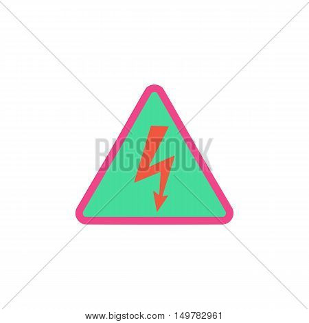 Electrocution Icon Vector. Flat simple color pictogram