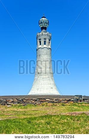 Mount Greylock. Veterans War Memorial Tower on the top of the Mount Greylock along Appalachian National Scenic Trail