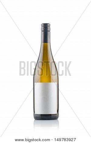 White Wine Bottles isolated over white background