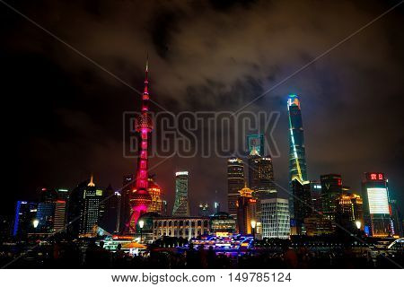 Shanghai 2016: Evening view of