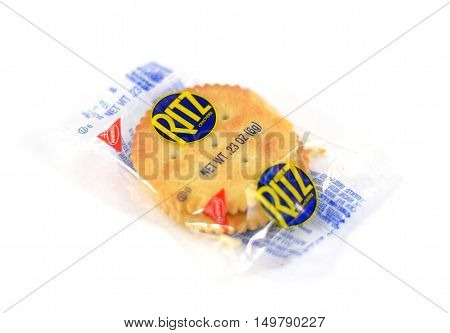 Single Serving Of Plastic Wrapped Ritz Crackers