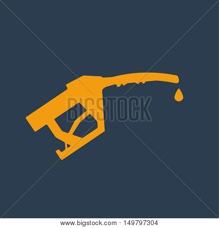 Filling gun icon. Filling gun icon with drop of gas