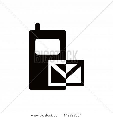 sms icon stock vector illustration flat design
