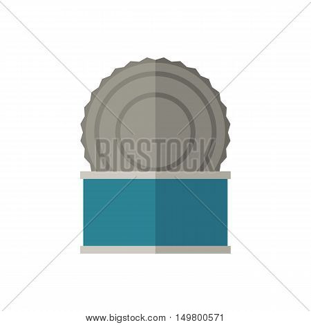 Tincan vector illustration. Opened tin icon in flat design.