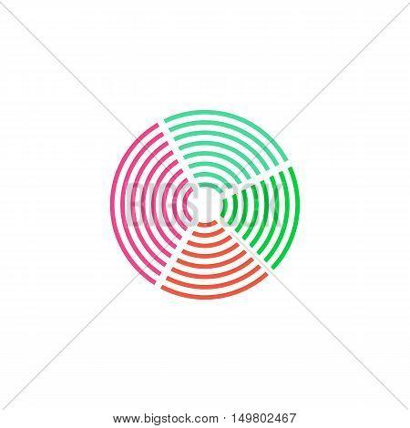 Diagram Icon Vector. Flat simple color pictogram
