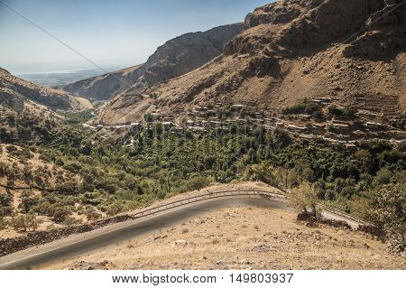 Aeria view of mountain area in Kurdistan region near Sulaimanya city in summer