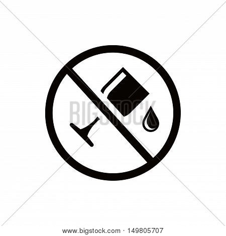 wineglass icon stock vector illustration flat design