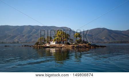 Small island in the Saronic Gulf, Greece.