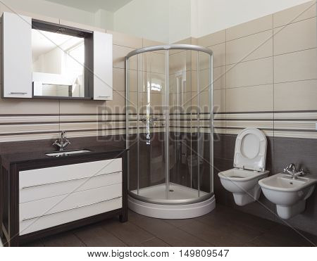 Bathroom in Luxury Home: Bathtub and Shower