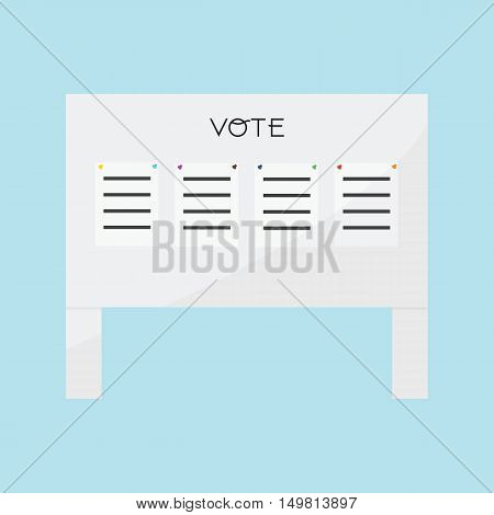 Voting Billboard 4 paper vote of vector ESP10