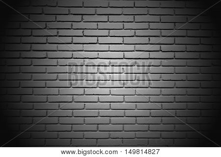 The white big wall by the brick vignette style
