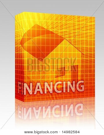Software package box House financing digital collage illustration, subprime loan