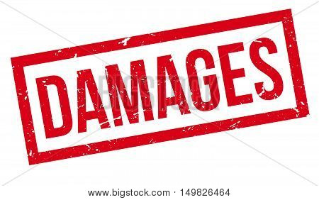 Damages  Rubber Stamp
