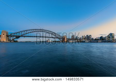 Sydney Harbour Sydney Australia .Oct 02,2016. Sydney Harbour is beautiful meandering waterway, famous around the word.