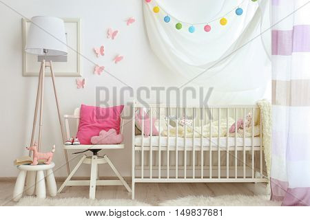 Modern interior of baby room