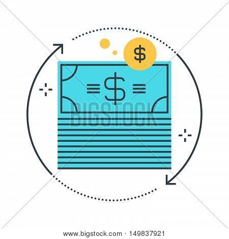 Color Line, Money Flow Illustration