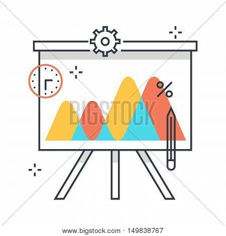 Color Line, Chart, Presentation Illustration