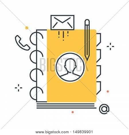 Contact List Illustration