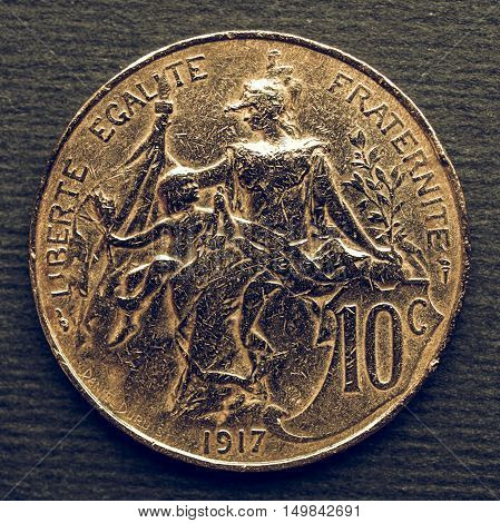 Vintage French Coin