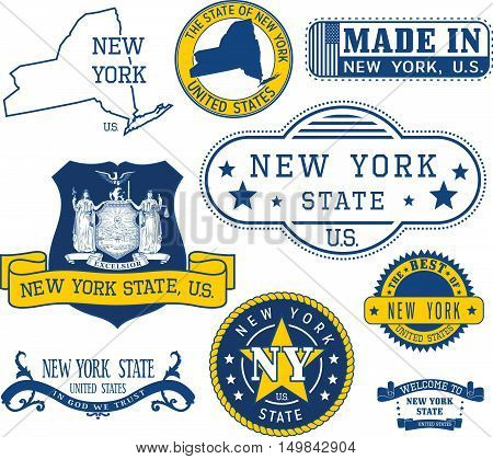Generic Stamps And Signs Of New York State