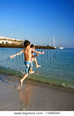 Skipping Fun To The Warm Waters