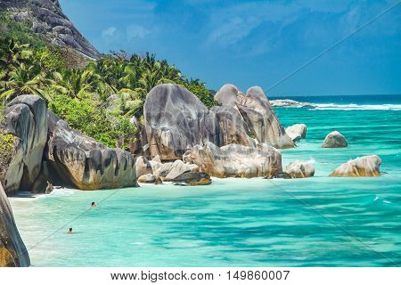 Beautiful Beach Of Seychelles