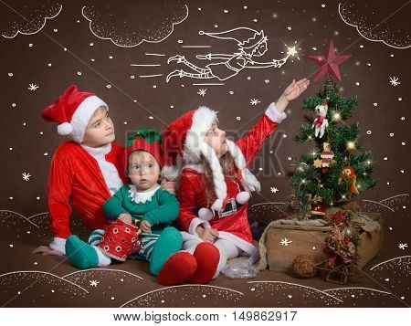 Children believe in miracles and magic - especially on Christmas night.