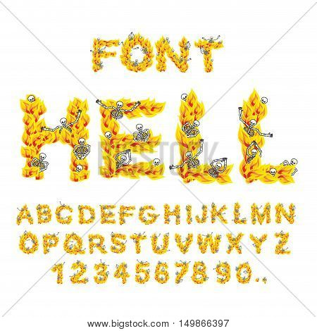 Hell Font. Inferno Abc. Fire Letters. Sinners In Hellfire. Hellish Alphabet. Scrape Down Flame For S