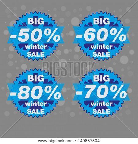 Big winter sale big sale special offer banner vector illustration.