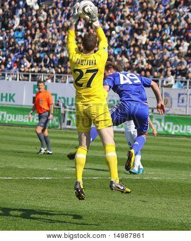 Jan Lastuvka Of Fc Dnipro And Roman Zozulya Of Dynamo Kyiv