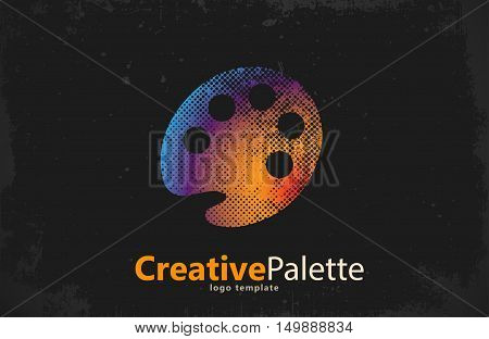 palette Icon. color palette symbol. art logo. creative palette